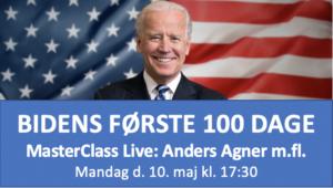 Deltag i vores MasterClass den 10. maj: Bidens første 100 dage